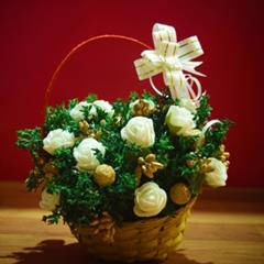 Dry Flower Bouquet (12 Nos.) White