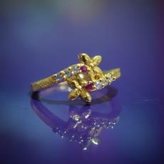 SG Flower Shaped Gold Plated Ring For Her