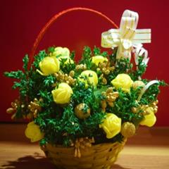 Dry Flower Bouquet (12 Nos.) Yellow