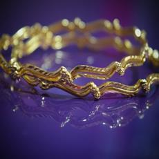 SG Gold Plated Bangle set