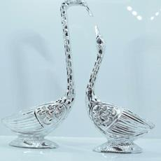 Attractive Antique Swan Pair